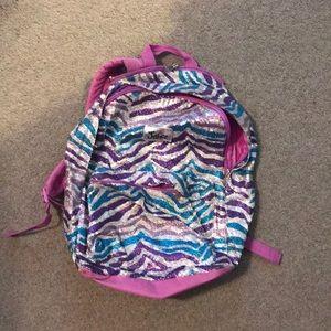 Zebra sequence justice backpack